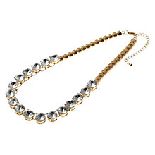 Buy Adele Marie Large Diamante Single Strand Statement Necklace, Gold Online at johnlewis.com
