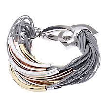 Buy Adele Marie Multi Row Cord and Tube Bracelet Online at johnlewis.com