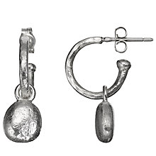 Buy Alexis Dove Sterling Silver Pebble Hoop Earrings Online at johnlewis.com