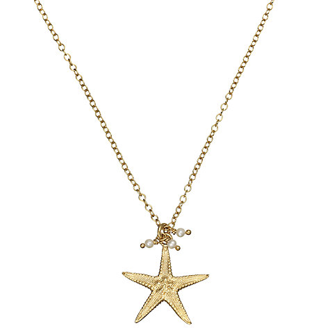 Buy Alexis Dove 18ct Gold Vermeil Starfish Pendant Online at johnlewis.com