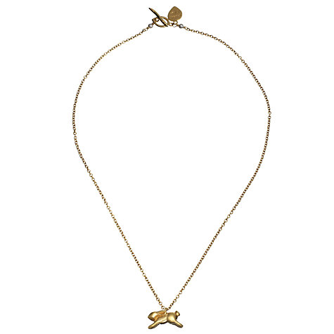 Buy Alexis Dove 18ct Gold Vermeil Small Rabbit Pendant Online at johnlewis.com