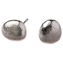 Buy Alexis Dove Sterling Silver Pebble Stud Earrings Online at johnlewis.com