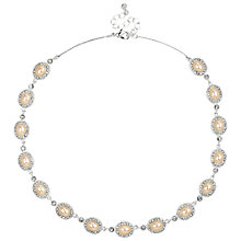 Buy Alan Hannah Oval Pearl Crystal Surround Allway Necklace, Silver Online at johnlewis.com