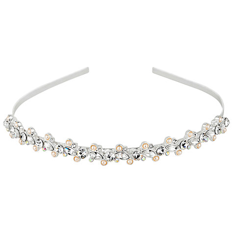 Buy Alan Hannah Navette Crystal Pearl Headband, Silver Online at johnlewis.com