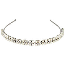 Buy Alan Hannah Four Pearl and Crystal Cluster Rhodium Headband, White Online at johnlewis.com
