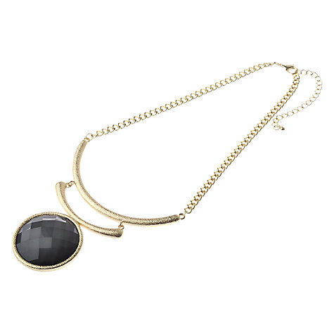 Buy Adele Marie Resin Drop Collar Chain Necklace, Grey Online at johnlewis.com