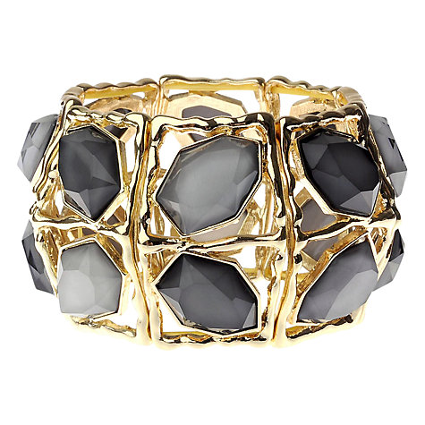 Buy Adele Marie Resin Segment Stretch Bracelet, Grey / Gold Online at johnlewis.com