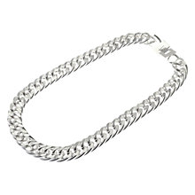Buy Adele Marie Chunky Chain Necklace, Silver Online at johnlewis.com