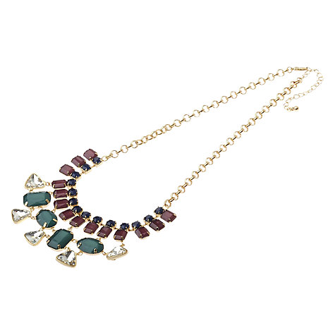 Buy Adele Marie Multi Row Resin Stone Statement Necklace Online at johnlewis.com
