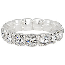 Buy Alan Hannah Clara Square Crystal Stretch Bracelet, Silver Online at johnlewis.com