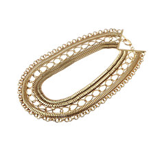 Buy Adele Marie Multi Row Chain Statement Necklace, Gold Online at johnlewis.com