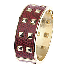 Buy Adele Marie Faux Snakeskin Crescent Pyramid Detail Cuff Online at johnlewis.com
