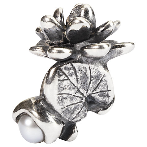 Buy Trollbeads Sterling Silver Waterlilies of July with Pearl Bead Online at johnlewis.com