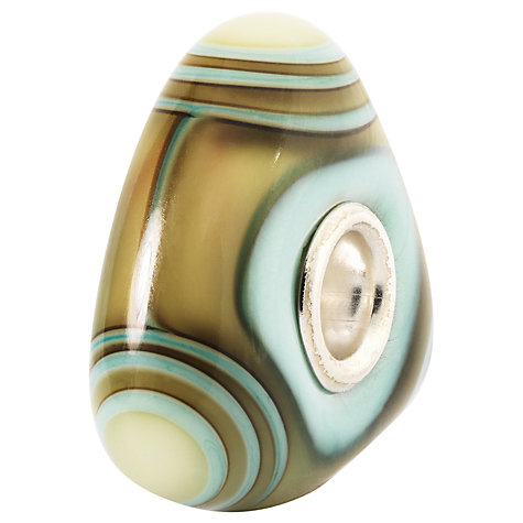 Buy Trollbeads Aqua Edge Triangle Glass Bead Online at johnlewis.com