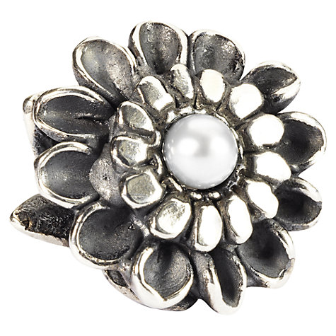 Buy Trollbeads Sterling Silver Chrysanthemum of November with Pearl Bead Online at johnlewis.com