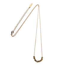 Buy Orelia Flower Bead Necklace, Gold Online at johnlewis.com