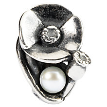 Buy Trollbeads Sterling Silver Poppies of August with Pearl Bead Online at johnlewis.com