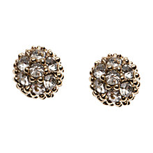 Buy Orelia Gold Texture Ball Stud Earrings Online at johnlewis.com