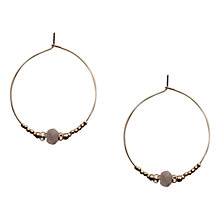 Buy Orelia Labradorite Bead Hoop Earrings Online at johnlewis.com