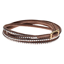 Buy Orelia Multi Wrap Bracelet, Brown Online at johnlewis.com