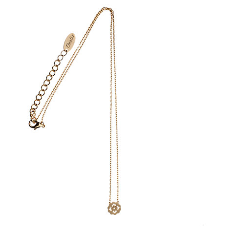 Buy Orelia Cut Out Flower Pendant, Gold Online at johnlewis.com