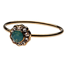 Buy Orelia Flower Crystal Surround Ring, Opal Online at johnlewis.com