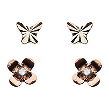 Buy Orelia Butterfly Earring Two Pack Online at johnlewis.com