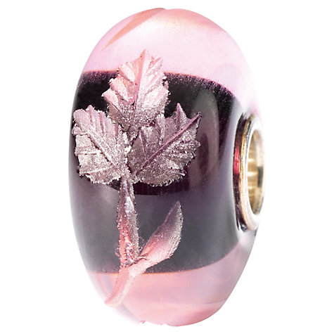 Buy Trollbeads Engraved Leaf Glass Bead Online at johnlewis.com