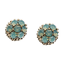 Buy Orelia Turquoise Textured Ball Earrings Online at johnlewis.com