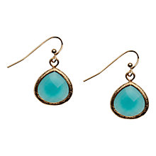 Buy Orelia Teardrop Hook Earrings, Turquoise Online at johnlewis.com