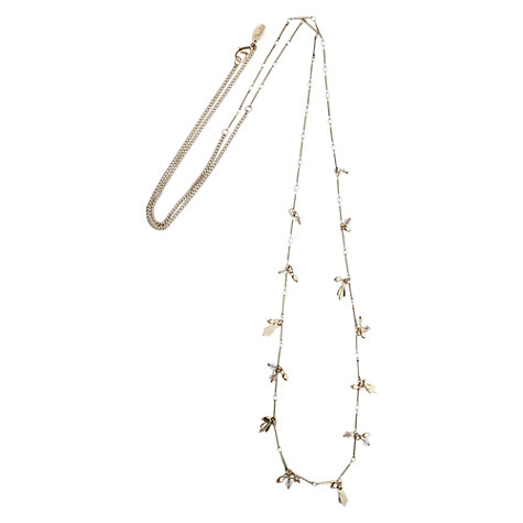 Buy Orelia Beaded Long Necklace, Gold Online at johnlewis.com