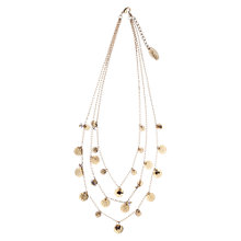 Buy Orelia Multi Row Coin Necklace, Gold Online at johnlewis.com