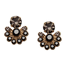 Buy Orelia Fanned Hematite Stud Earrings, Gold / Black Online at johnlewis.com