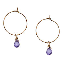 Buy Orelia Amathyst Teardrop Hoop Earrings Online at johnlewis.com