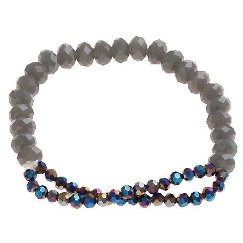 Buy John Lewis Hematite Crystal Mini Row Bracelet Online at johnlewis.com