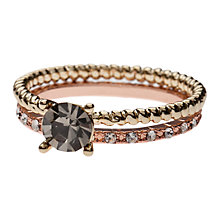 Buy Orelia Mixed Stacker Rings, Multi Online at johnlewis.com