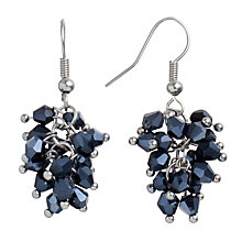 Buy John Lewis Cluster Carded Drop Earrings, Navy Online at johnlewis.com