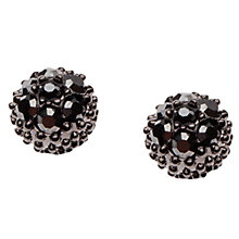 Buy Orelia Jet Textured Ball Earrings Online at johnlewis.com