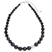 Buy John Lewis Shambala Sparkle Necklace, Black Online at johnlewis.com