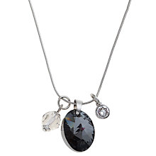 Buy John Lewis Swarovski Crystals Oval Necklace Online at johnlewis.com