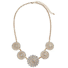 Buy John Lewis Flower Disc Necklace, Gold Online at johnlewis.com