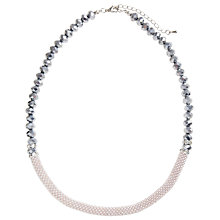 Buy John Lewis Textured Beads Necklace, Silver Online at johnlewis.com