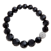 Buy John Lewis Shambala Stretch Bracelet, Black Online at johnlewis.com