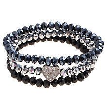 Buy John Lewis Mini Heart Bracelet, Silver Online at johnlewis.com