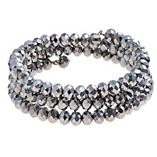 Buy John Lewis Circle Spiral Bracelet, Silver Online at johnlewis.com