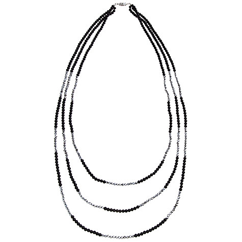 Buy John Lewis Deco Necklace, Black Online at johnlewis.com
