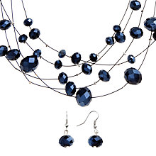 Buy John Lewis Sparkle Illusion Set, Navy Online at johnlewis.com