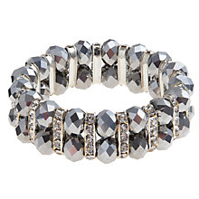 Buy John Lewis Wide Cluster Bracelet, Silver Online at johnlewis.com
