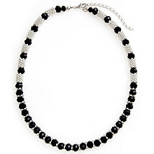 Buy John Lewis Effer Necklace, Black Online at johnlewis.com