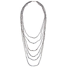 Buy John Lewis Long Multi Layer Necklace, Silver Online at johnlewis.com